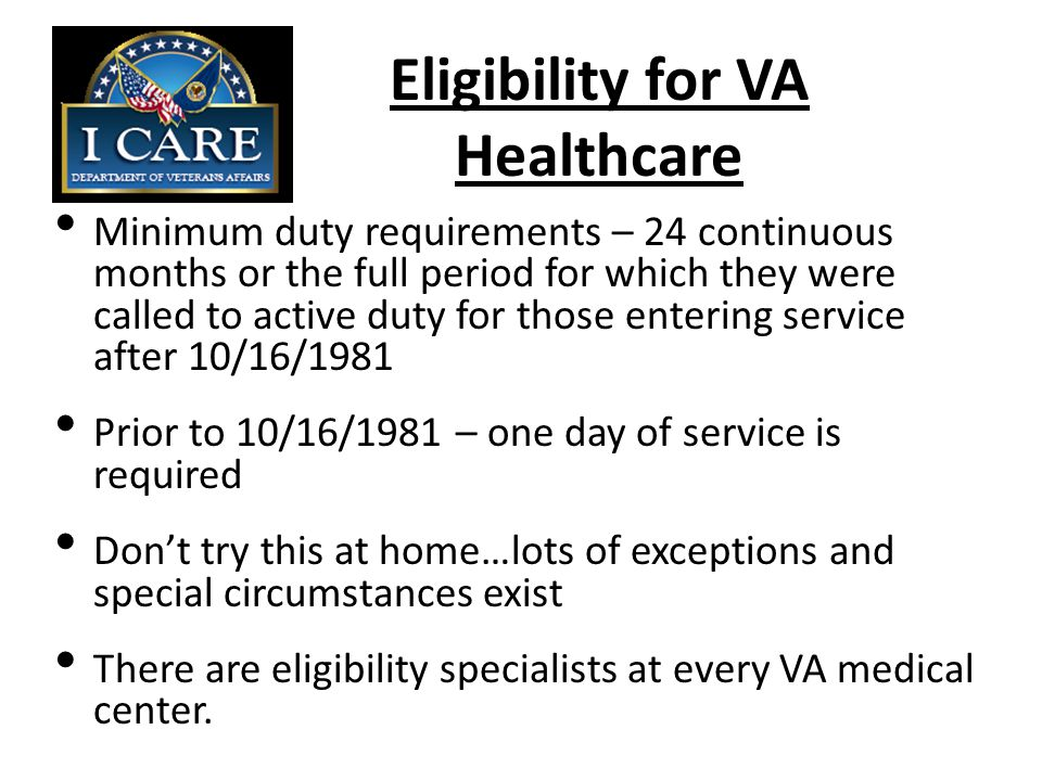 Discharge Upgrades Application must be within 15 years of the discharge The Department of Veterans Affairs cannot assist with discharge upgrades Refer to:  Veterans Service Organizations  State Office / Division of Veterans Affairs
