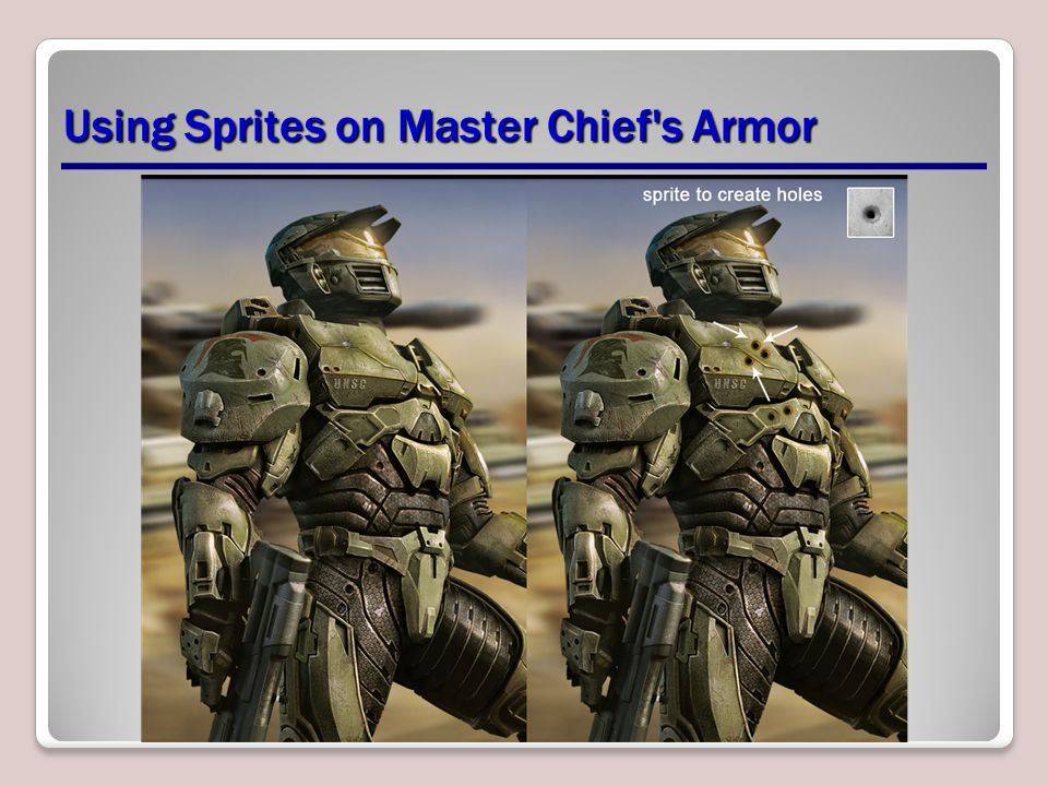 Using Sprites on Master Chief s Armor