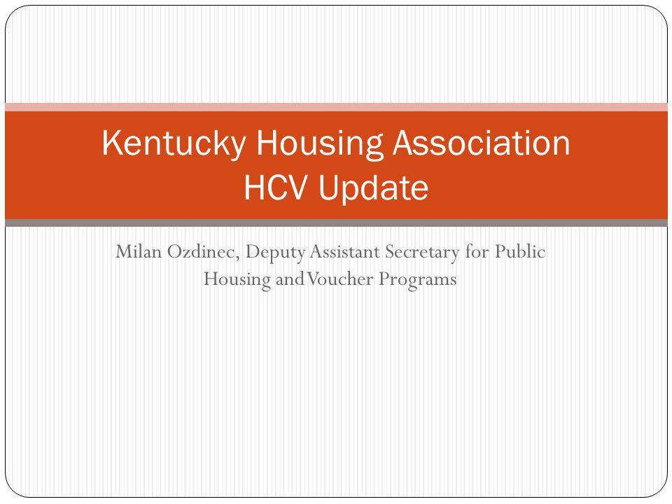 Topics 2 Overview of HCV Program HUD's HCV Objectives HUD's Management Plan Goals for HCV Budget
