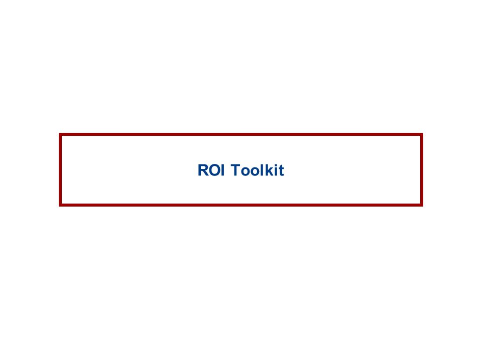 ROI Toolkit