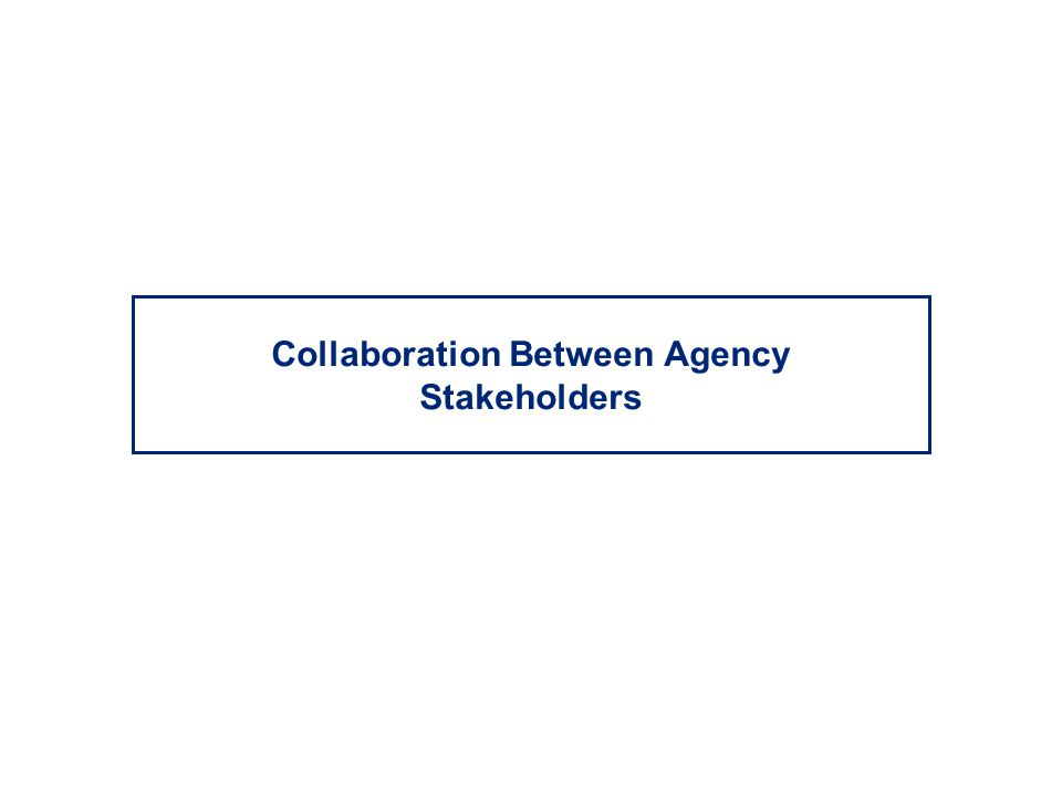 Collaboration Between Agency Stakeholders