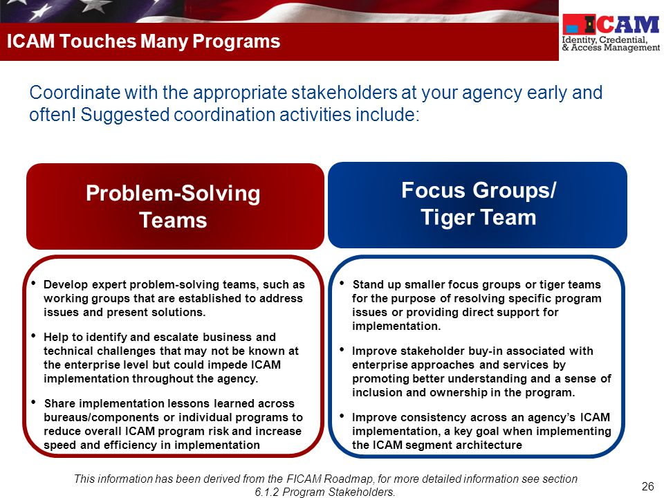 26 Coordinate with the appropriate stakeholders at your agency early and often.