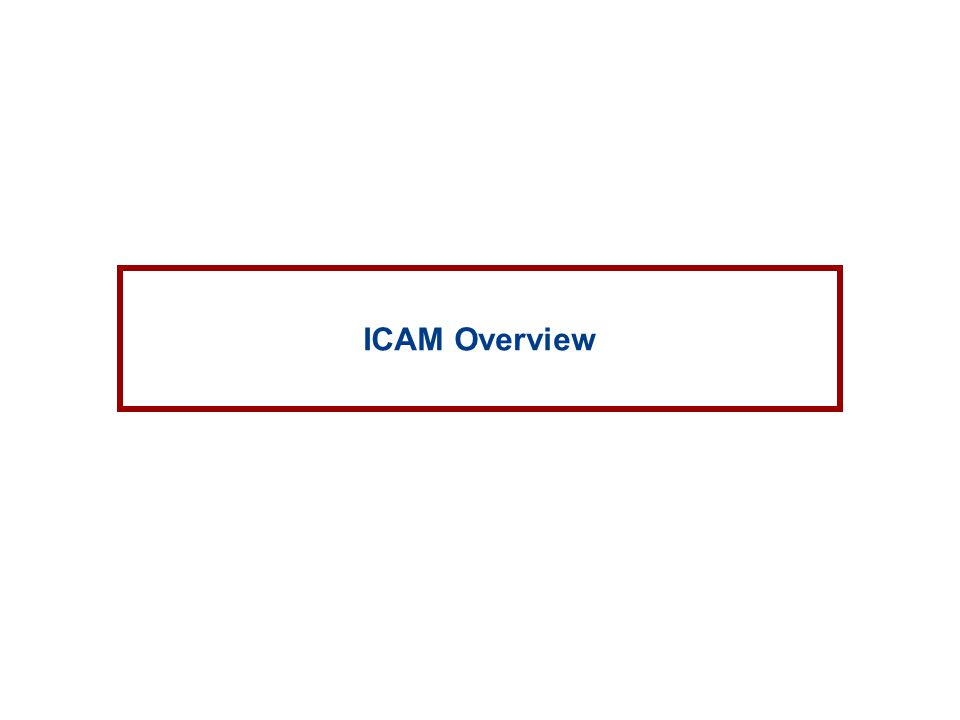 ICAM Overview
