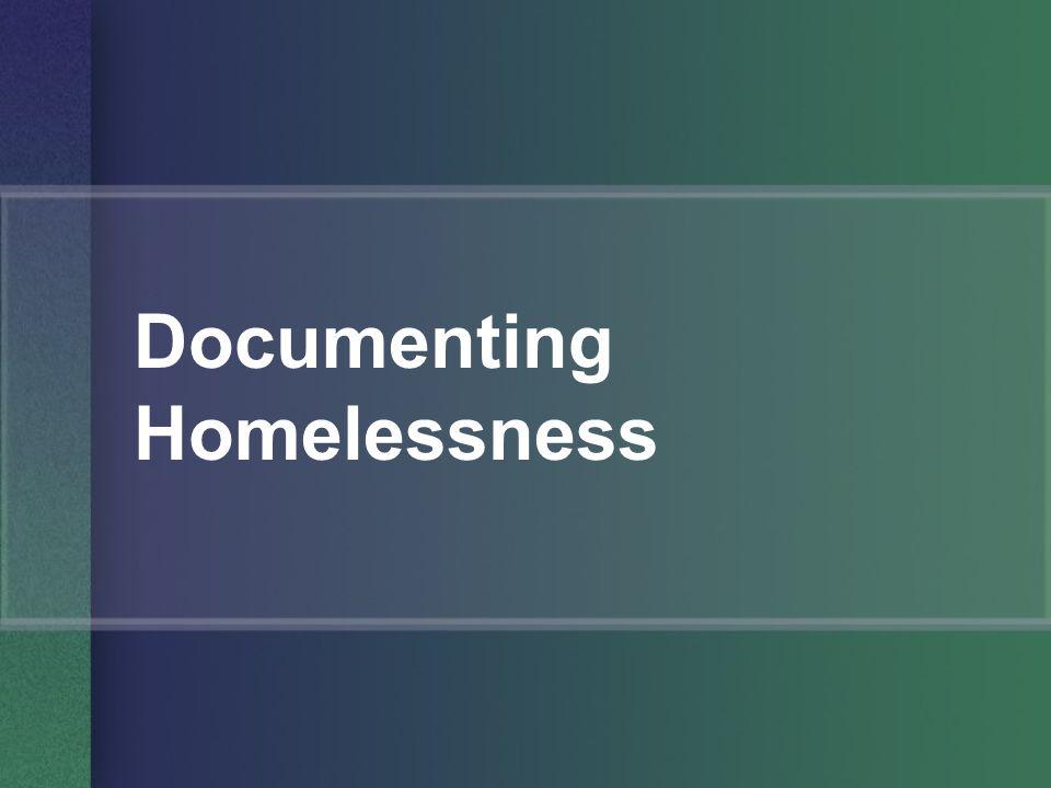 Documenting Homelessness