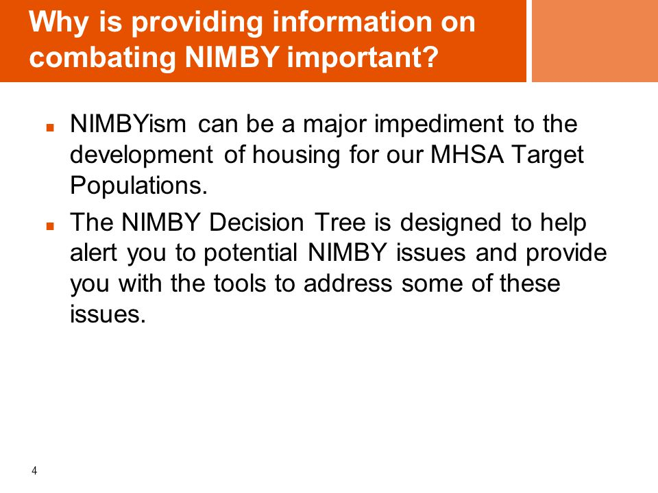How can this NIMBY Decision Tree Tool help.