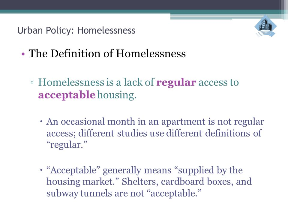homelessness outline