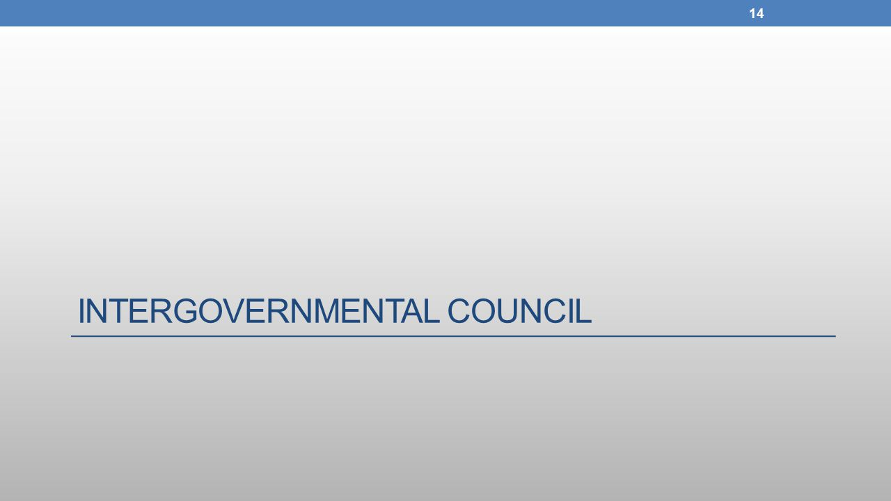 INTERGOVERNMENTAL COUNCIL 14