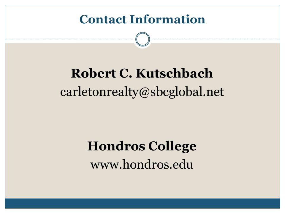 Contact Information Robert C.