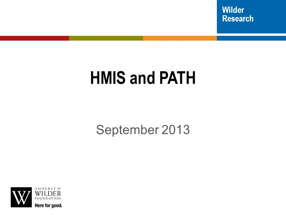 Wilder Research HMIS and PATH September 2013
