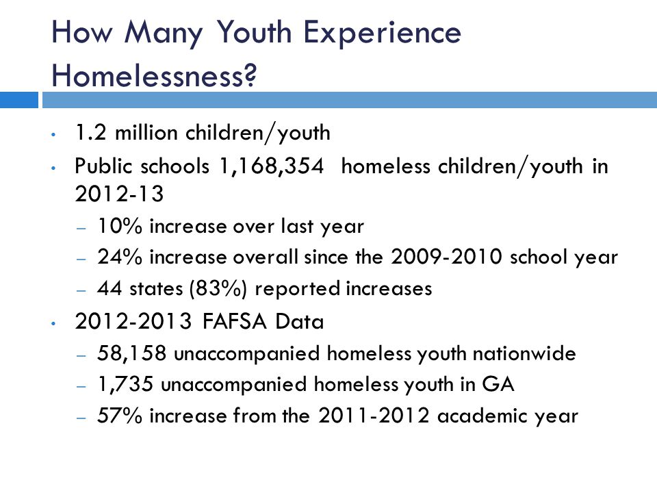How Many Youth Experience Homelessness.
