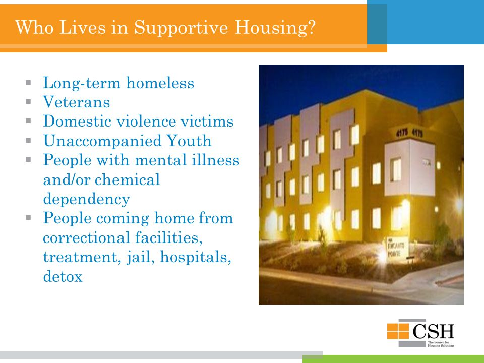 Who Lives in Supportive Housing.