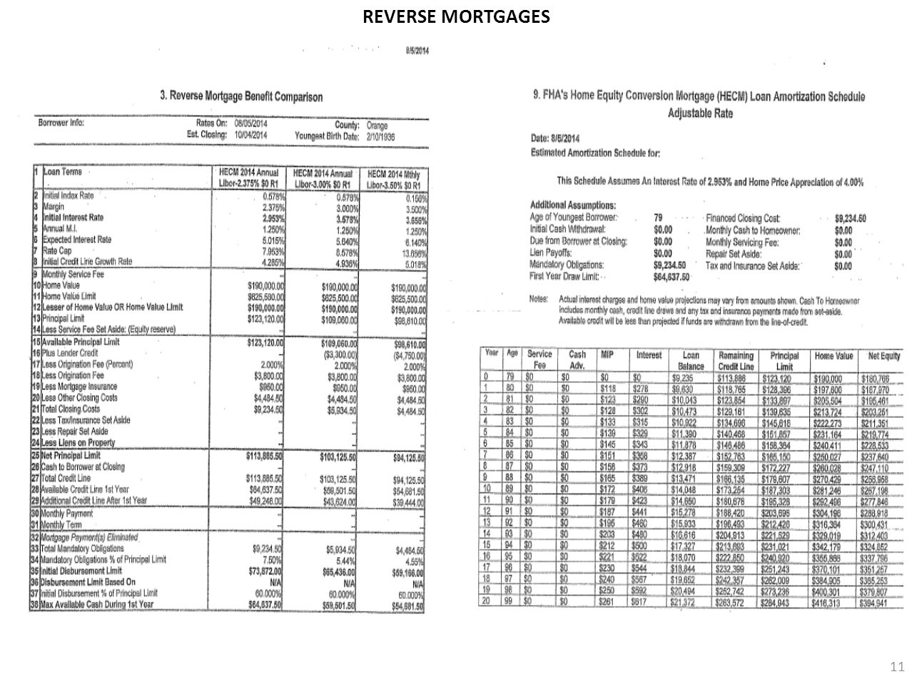 11 REVERSE MORTGAGES