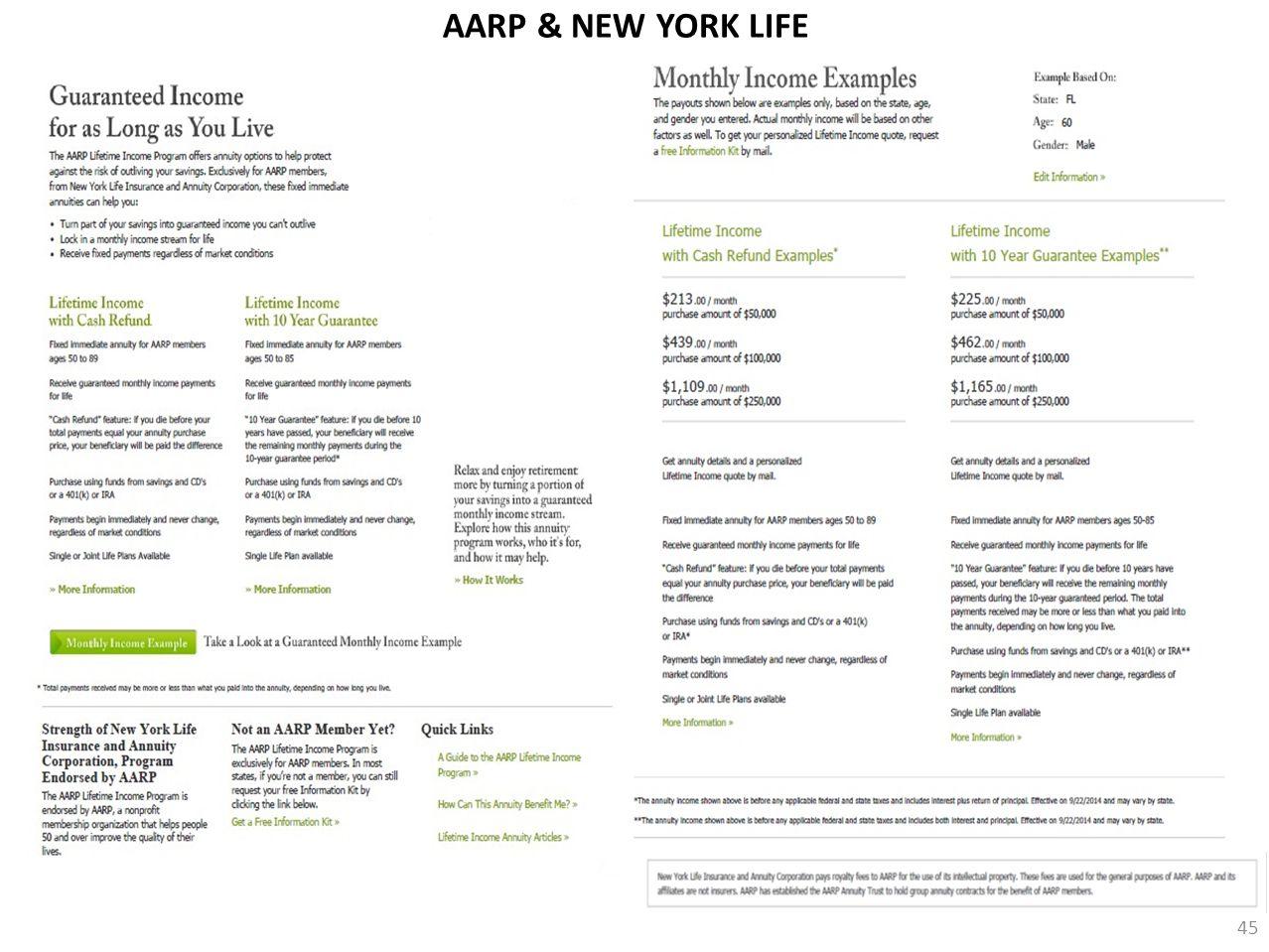 AARP & NEW YORK LIFE 45