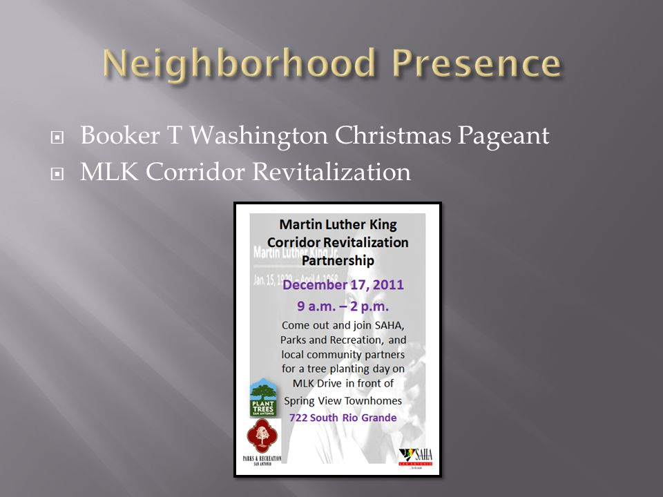 Booker T Washington Christmas Pageant  MLK Corridor Revitalization