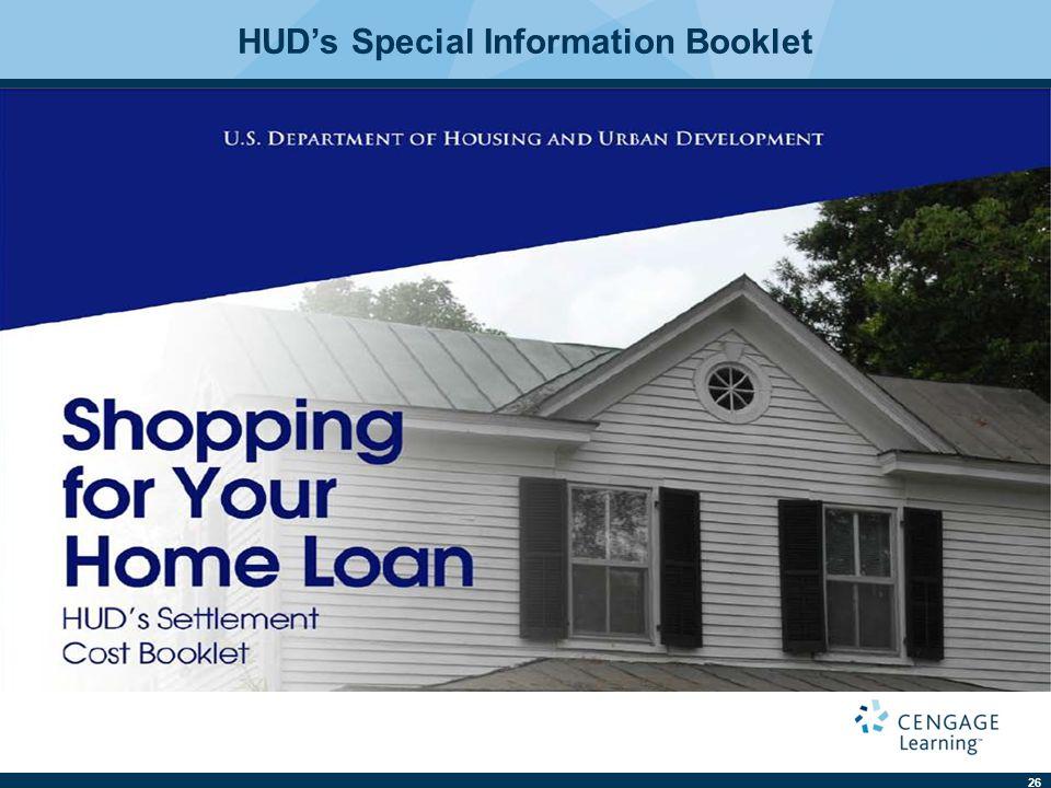 26 HUD's Special Information Booklet