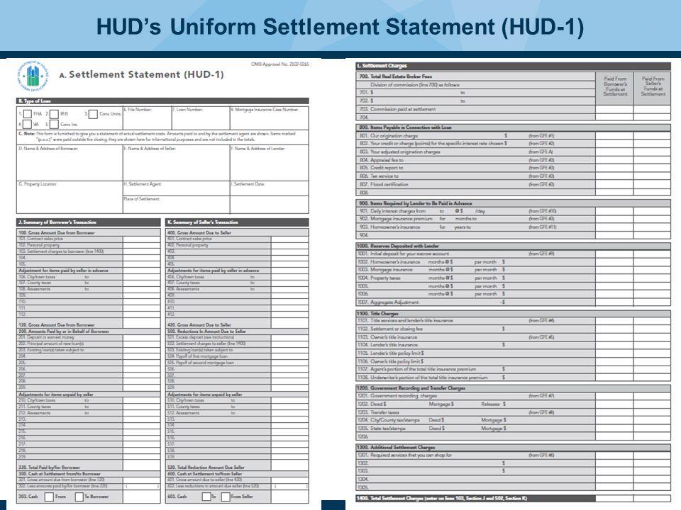 33 HUD's Uniform Settlement Statement (HUD-1)