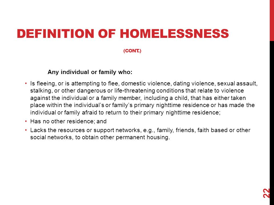 Any individual or family who: Is fleeing, or is attempting to flee, domestic violence, dating violence, sexual assault, stalking, or other dangerous o