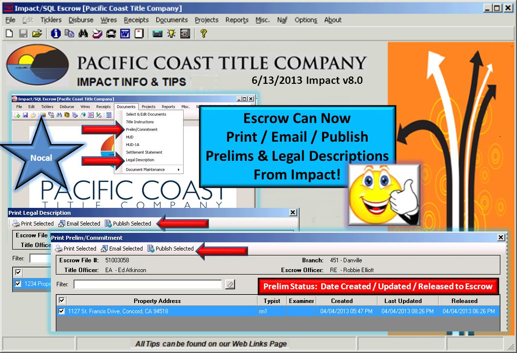 4/01/2013 NOCAL TITLE GOES LIVE IN IMPACT TODAY!!.