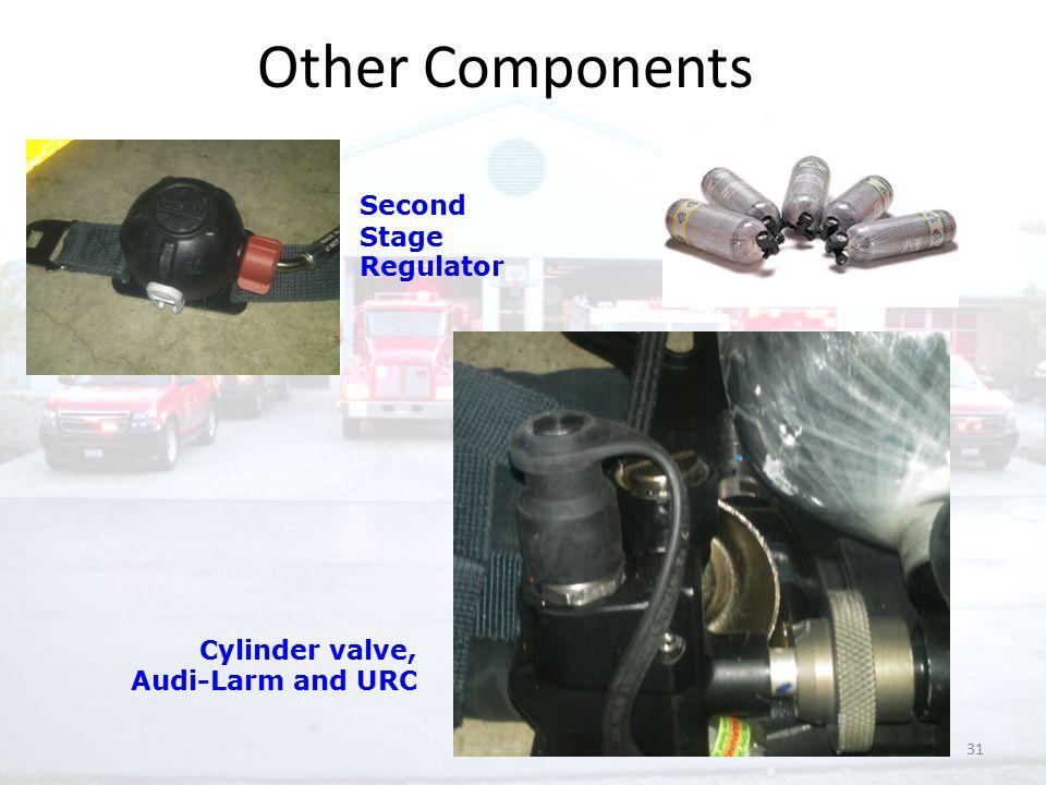 31 Second Stage Regulator Cylinder valve, Audi-Larm and URC Other Components