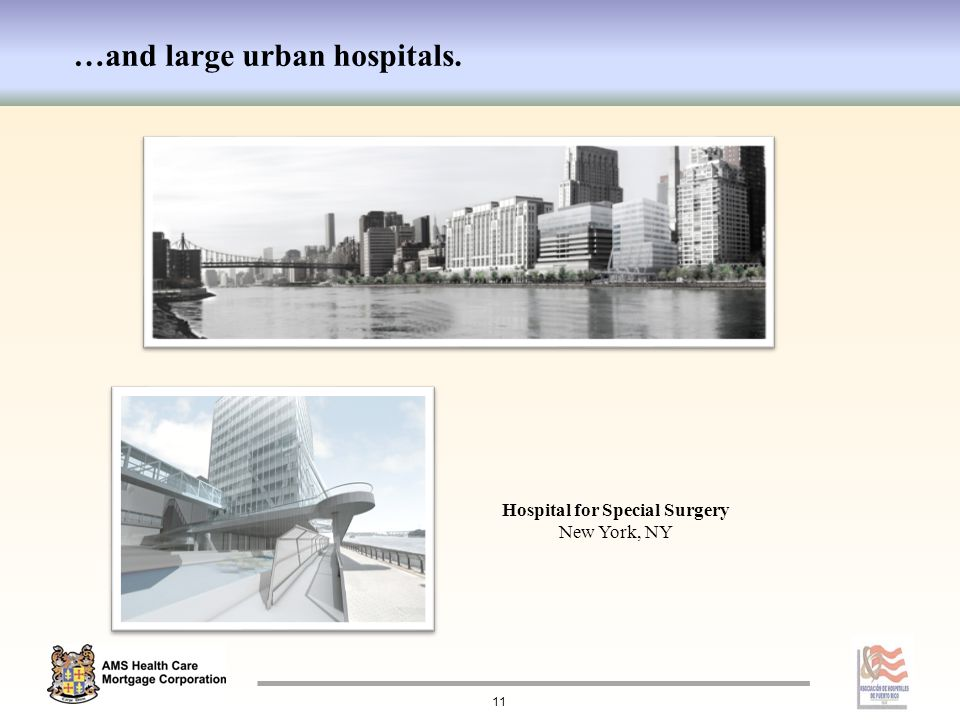 …and large urban hospitals. Hospital for Special Surgery New York, NY 11