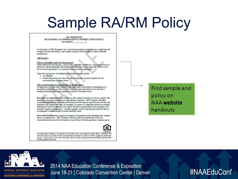 Sample RA/RM Policy