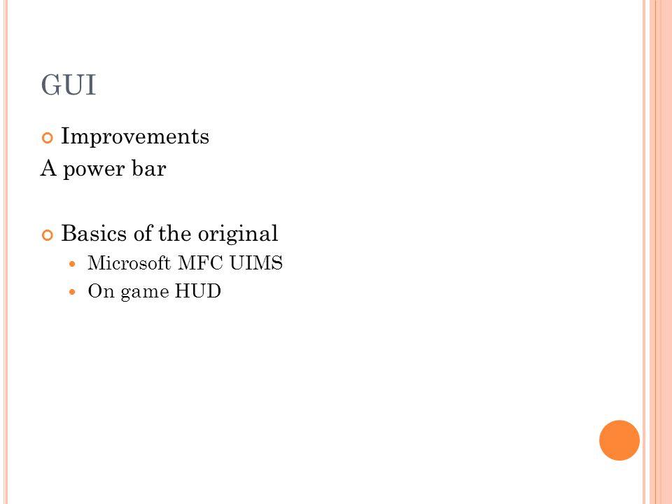 GUI – UIMS + HUD MFC menu + HUD