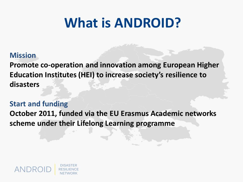 This presentation has been produced with the financial assistance of the European Union.