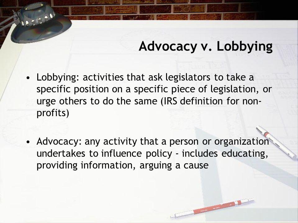 Advocacy v.