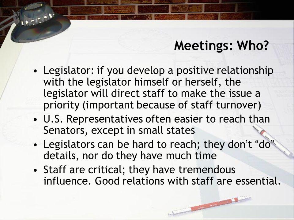 Meetings: Who.