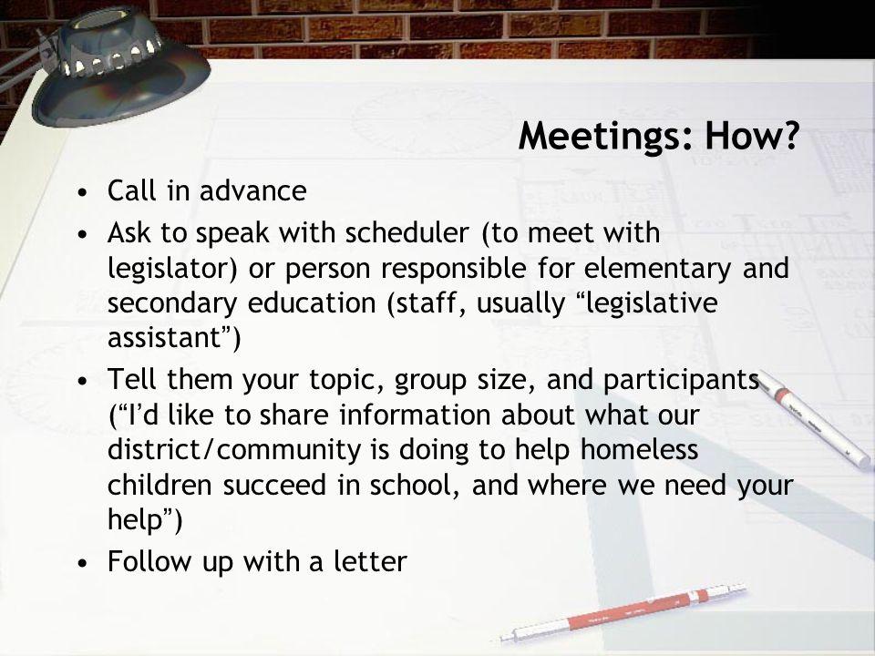 Meetings: How.