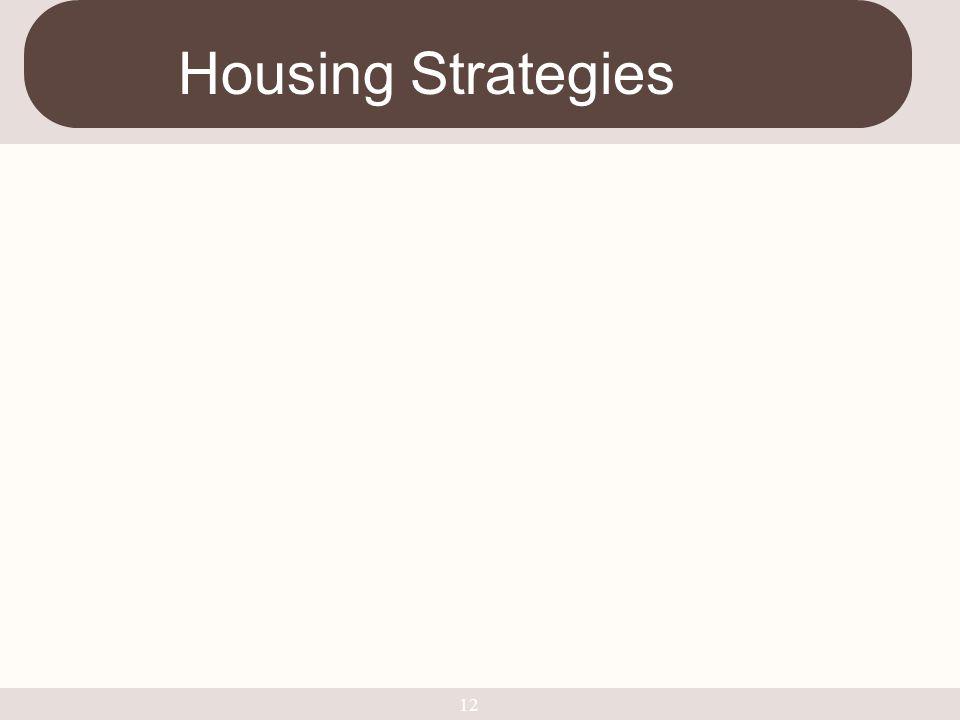 12 Housing Strategies