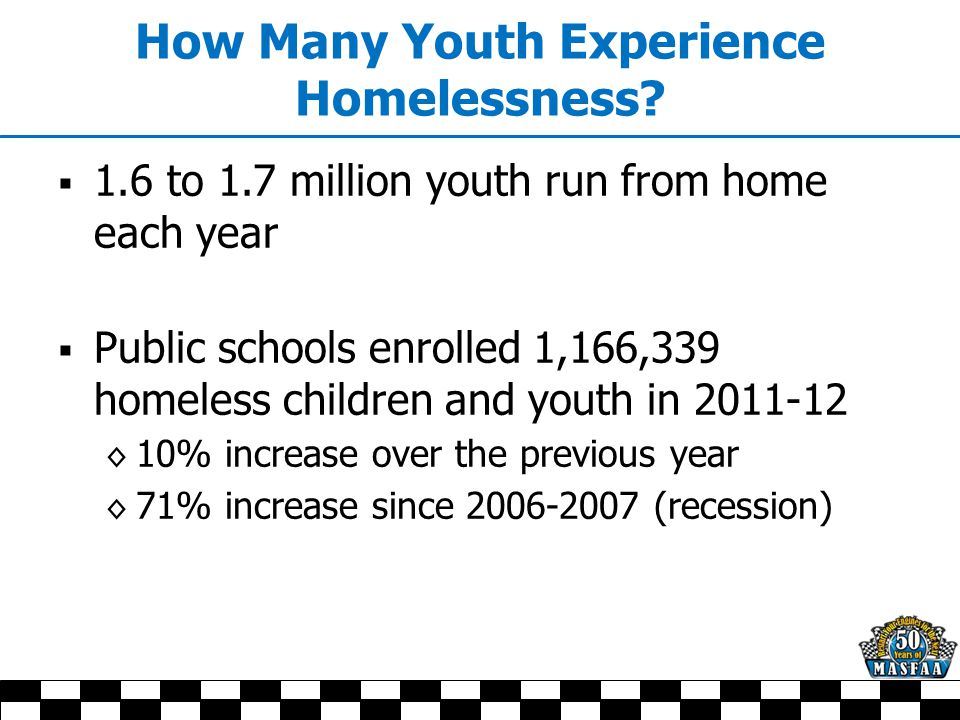 Why Are Youth Homeless and On Their Own.
