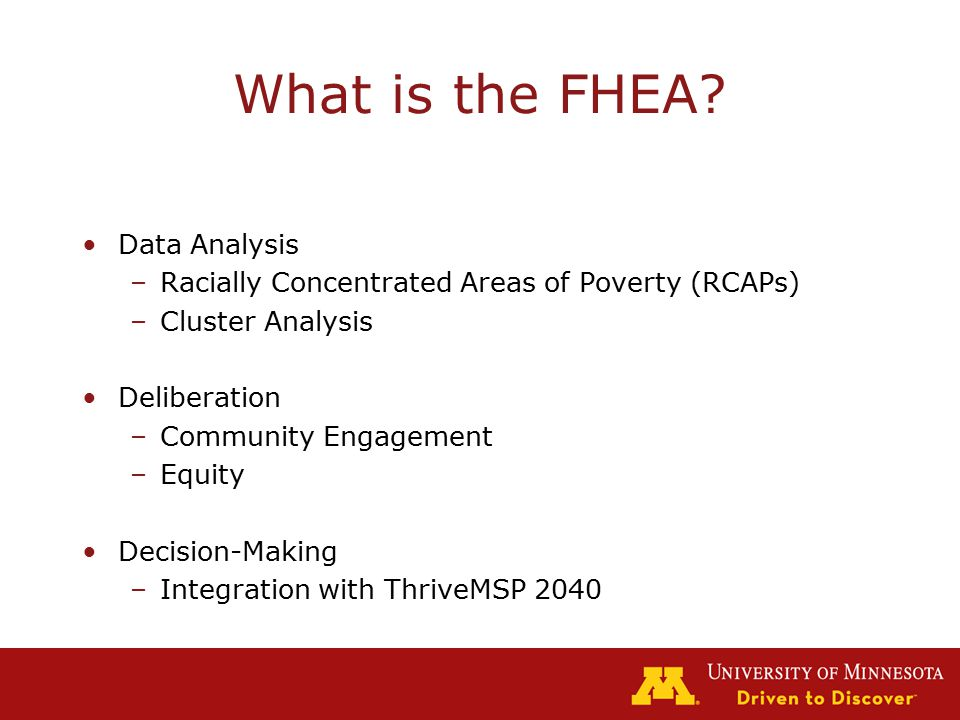 What is the FHEA.