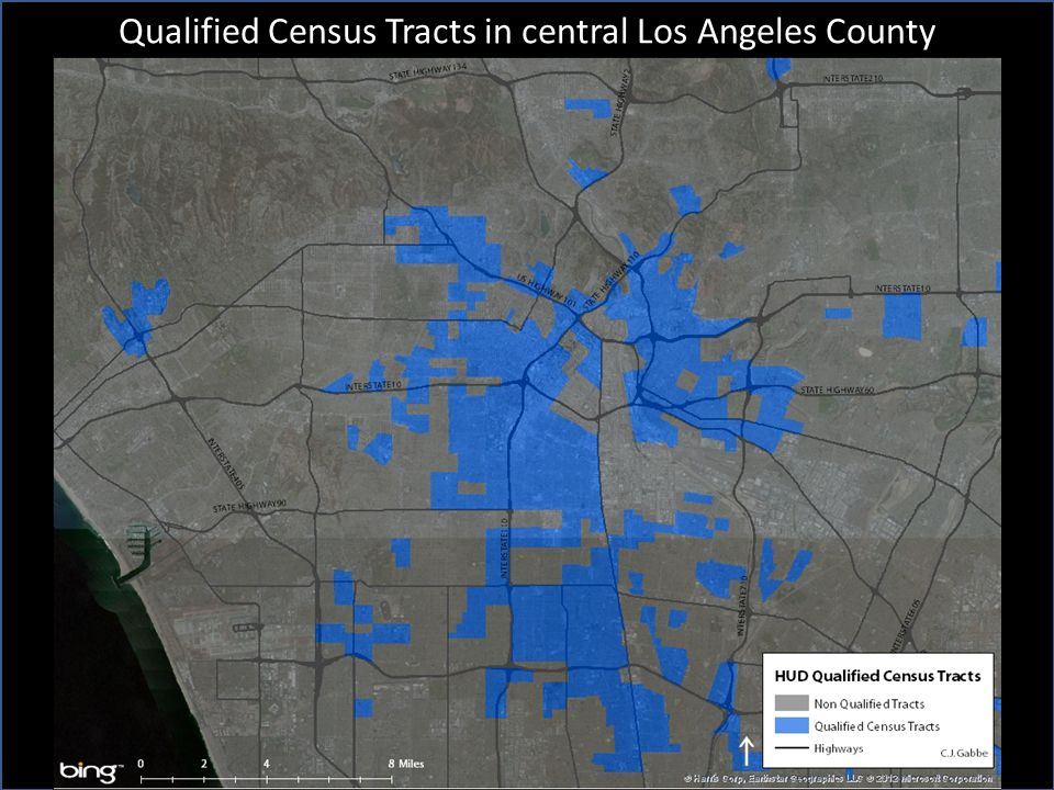 Qualified Census Tracts in central Los Angeles County