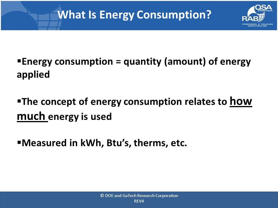What Is Energy Consumption.
