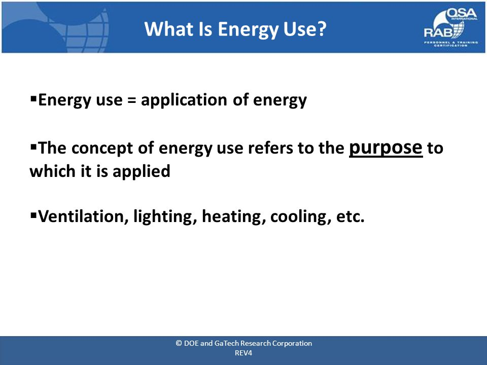 What Is Energy Use.