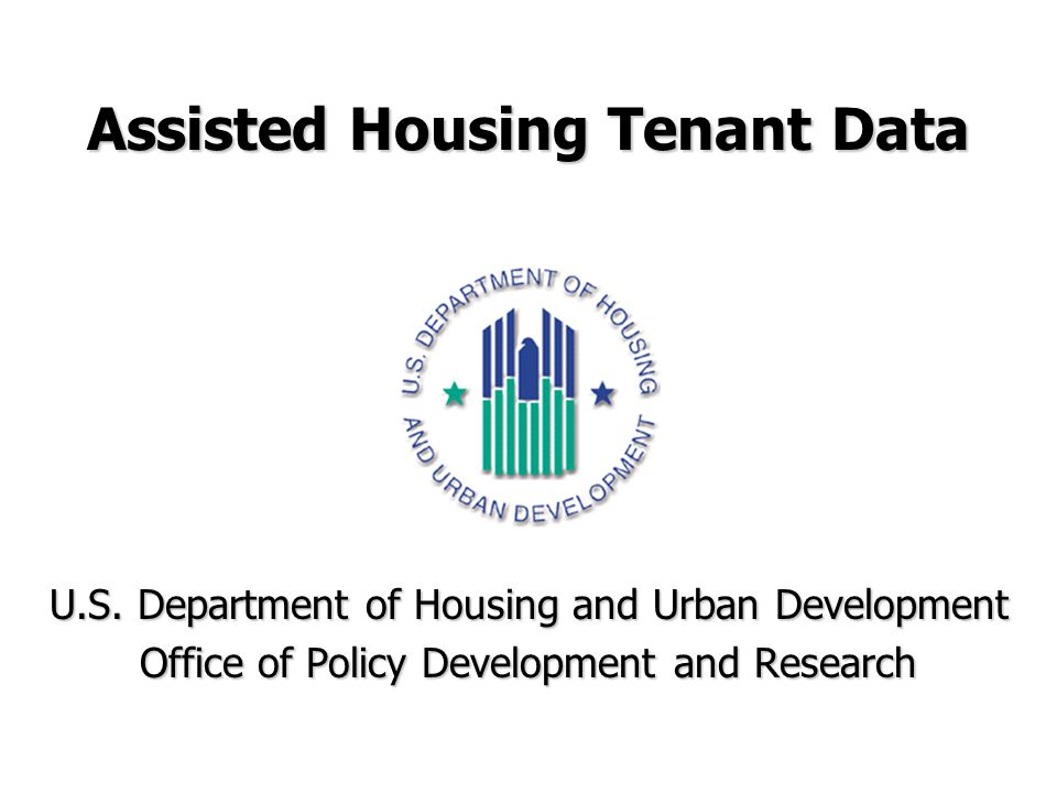 Assisted Housing Tenant Data U.S.