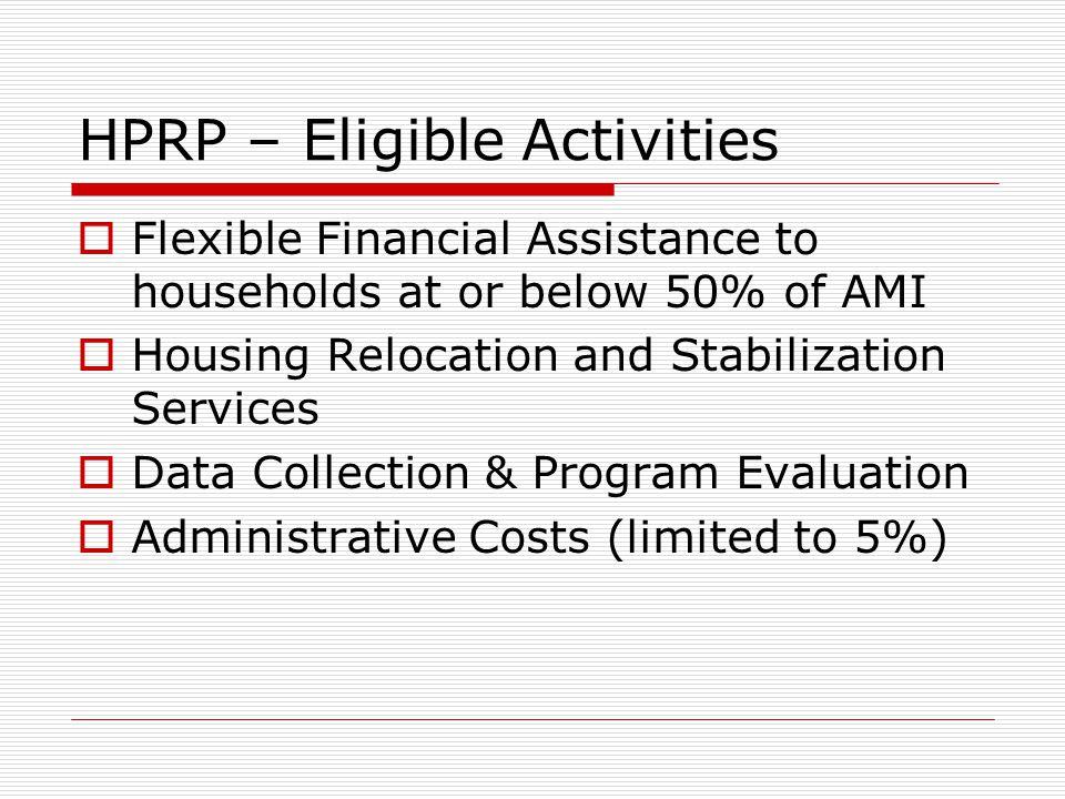 HPRP – Flexible Financial Assist.