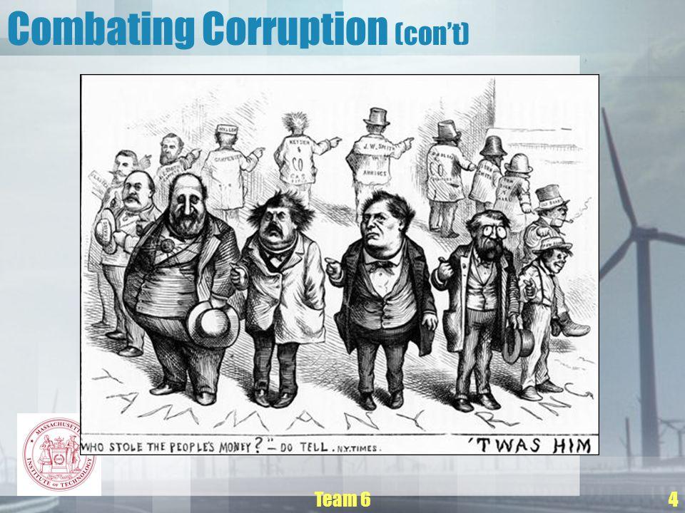 Team 64 Combating Corruption (con't)