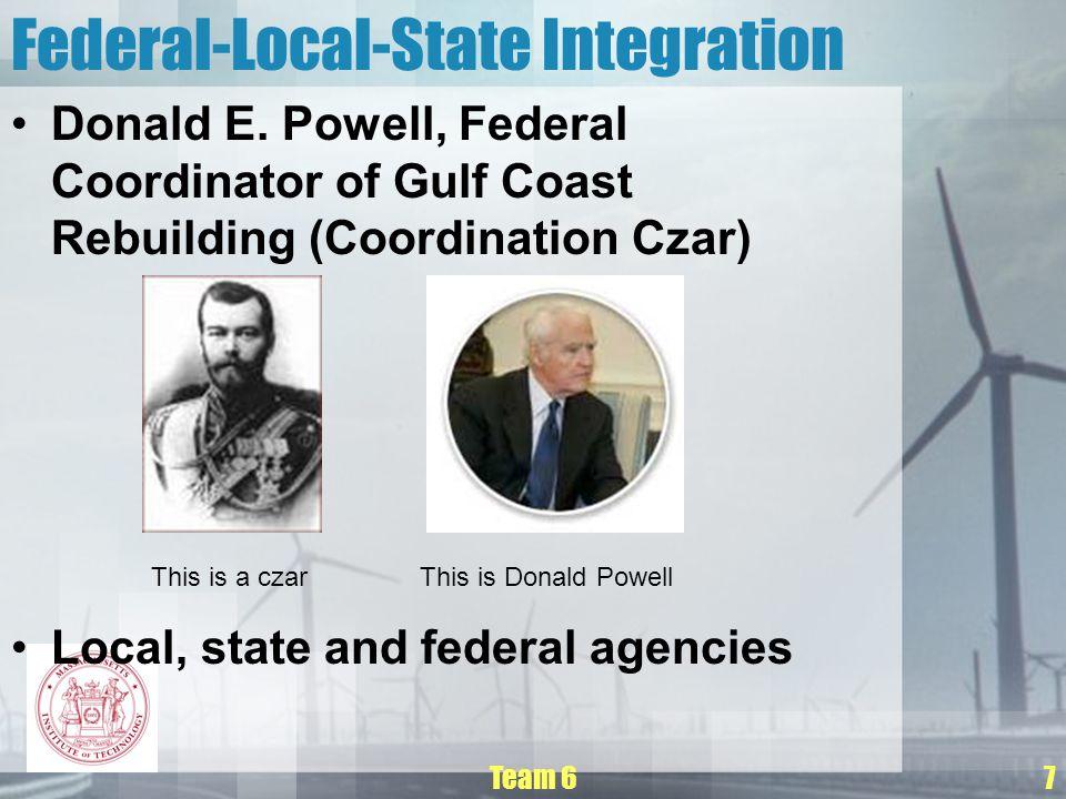 Team 67 Federal-Local-State Integration Donald E.