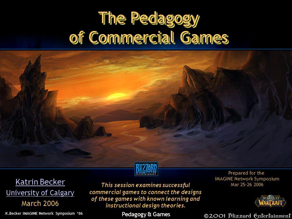 K.Becker IMAGINE Network Symposium '06 Pedagogy & Games Kolb / Keirsey How Do Games Teach.