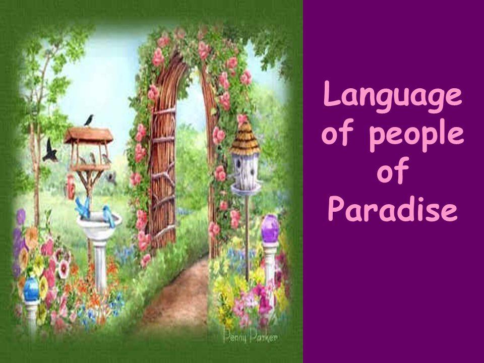 Language of people of Paradise