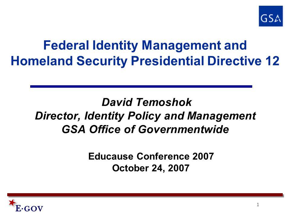 2 President's Domestic Agenda President's Management Agenda: 1.