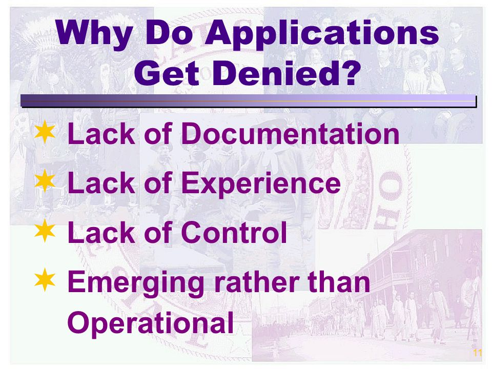 11 Why Do Applications Get Denied.