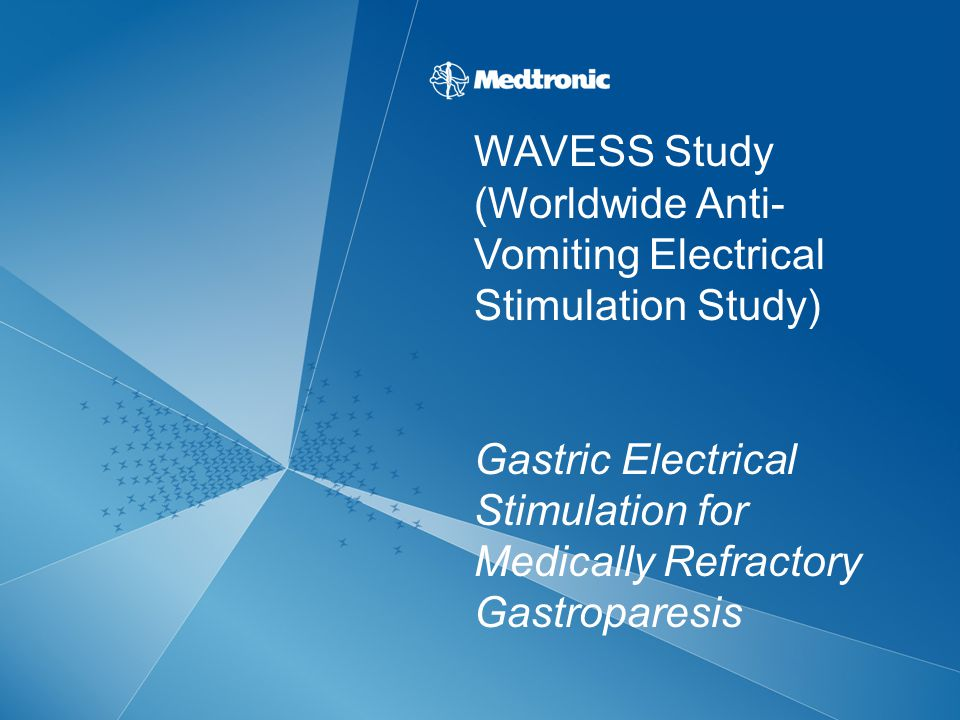 WAVESS Study (Worldwide Anti- Vomiting Electrical Stimulation Study) Gastric Electrical Stimulation for Medically Refractory Gastroparesis