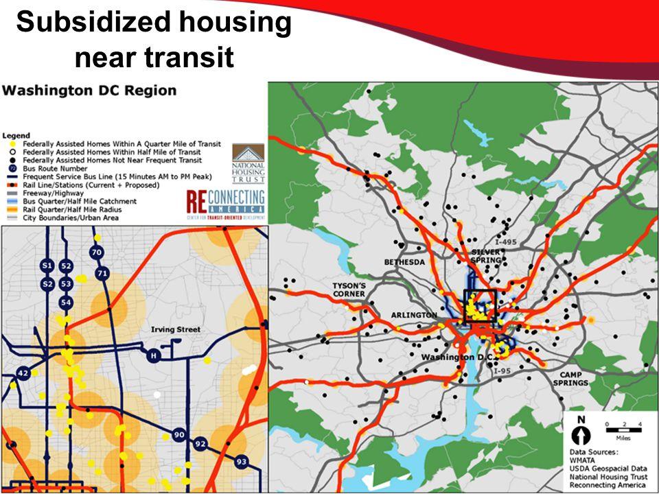 Subsidized housing near transit