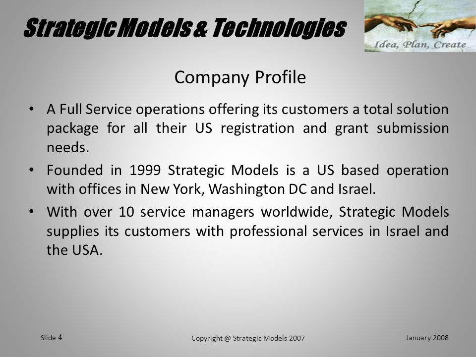 Strategic Models & Technologies January 2008 Copyright @ Strategic Models 2007 Slide 15 GSA Registration Timeline At GSAINHOUSE Data Collection Offer Completion 4W Review & CO assignment Admin.