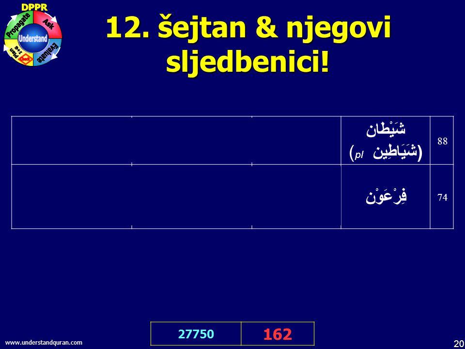 20 www.understandquran.com 12. šejtan & njegovi sljedbenici.