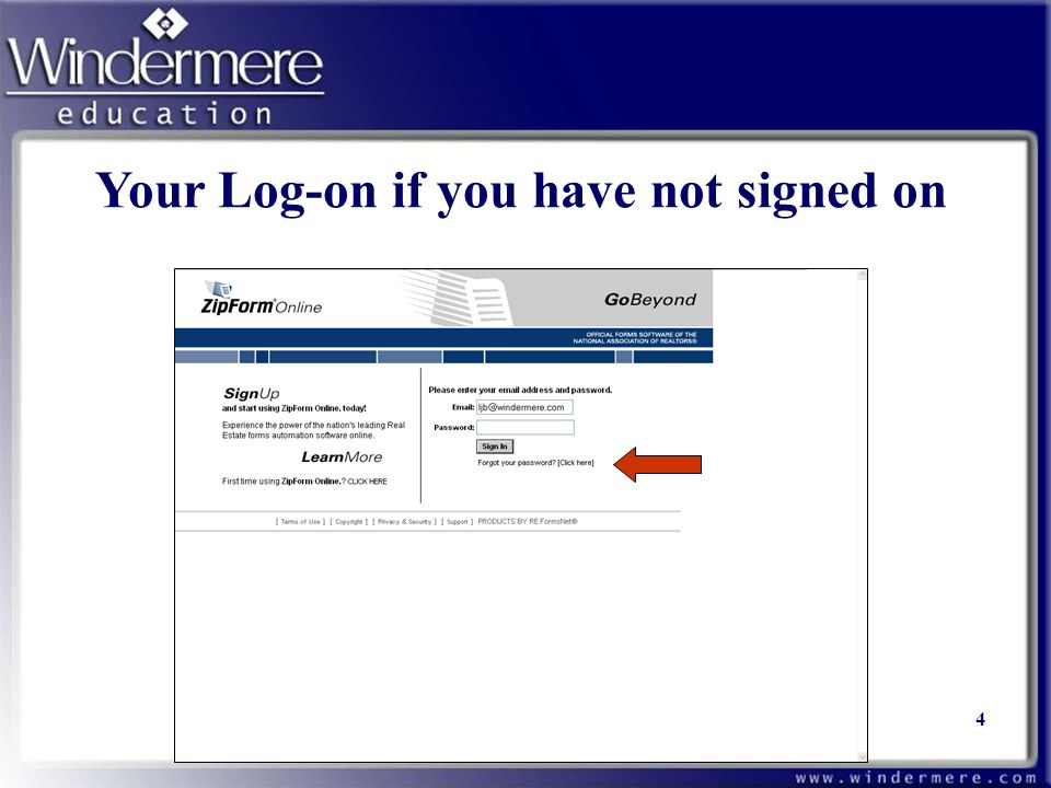 Your Log-on if you have not signed on 4