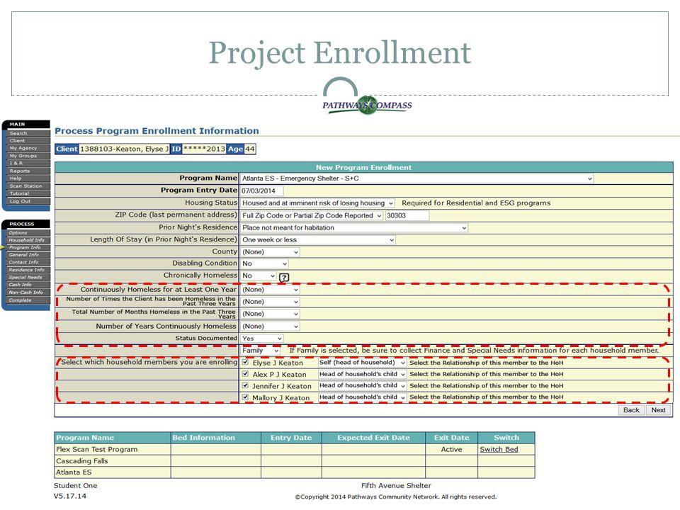 Project Enrollment